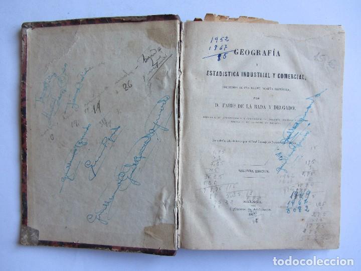 Libros antiguos: GEOGRAFÍA Y ESTADÍSTICA INDUSTRIAL Y COMERCIALD. Fabio de la Rada y Delgado 1867 Segunda edición - Foto 3 - 61549004