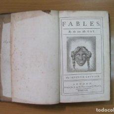 Libros antiguos: FABLES, 1753, TOMOS I Y II (OBRA COMPLETA). JOHN GAY. NUMEROSOS GRABADOS. Lote 61554344