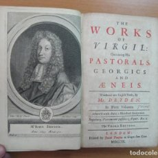 Libros antiguos: THE WORKS OF VIRGIL, 1709, 3 VOLÚMENES (OBRA COMPLETA).DRYDEN. POSEE 100 GRABADOS. Lote 61563592