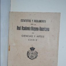 Libros antiguos: ESTATUTO , REAL ACADEMIA HISPANO-AMERICANA.. Lote 61601904