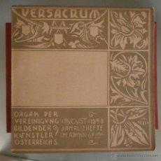 Livres anciens: VERSACRUM ORGAN DER VEREINIGUNG. AUGUST 1898. Lote 61614624