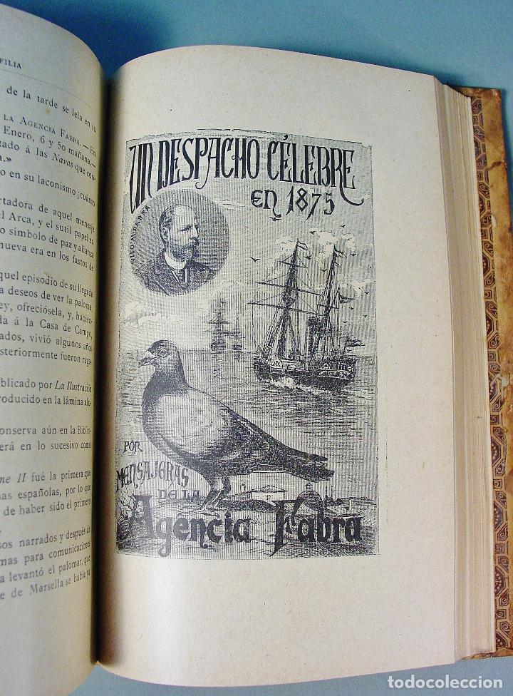 Libros antiguos: COLOMBOFILIA. ESTUDIO COMPLETO DE LAS PALOMAS MENSAJERAS. SALVADOR CASTELLÓ. 1906. BARCELONA - Foto 5 - 61740604