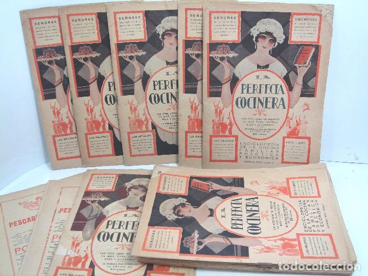 LIBRO 19X ENTREGAS - LA PERFECTA COCINERA - ENCICLOPEDIA COCINA ECONOMICA - PAEZ 1928 - COLECCION (Libros Antiguos, Raros y Curiosos - Cocina y Gastronomía)