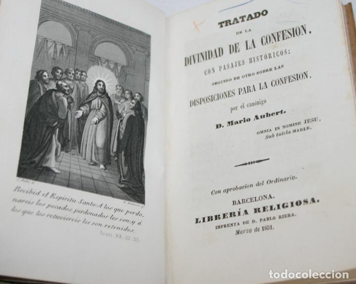 Libros antiguos: TRATADO DE LA DIVINIDAD DE LA CONFESION, MARIO AUBERT, PABLO RIERA 1851, LIBRO ANTIGUO SIGLO XIX - Foto 3 - 61899204