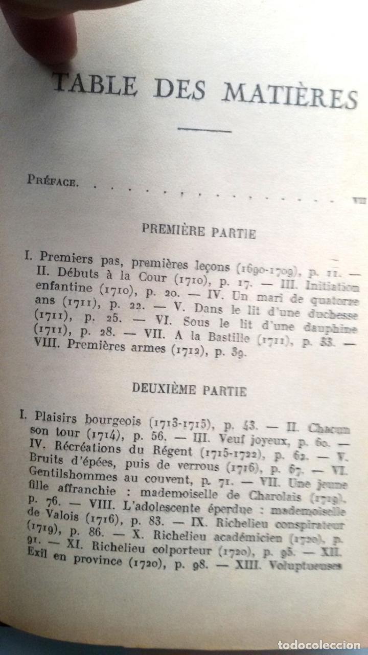 Libros antiguos: Les conquetes d'amour et de gloire du meréchal, duc de RICHELIEU .. Por Paul Reboux 1929 - Foto 5 - 19046767