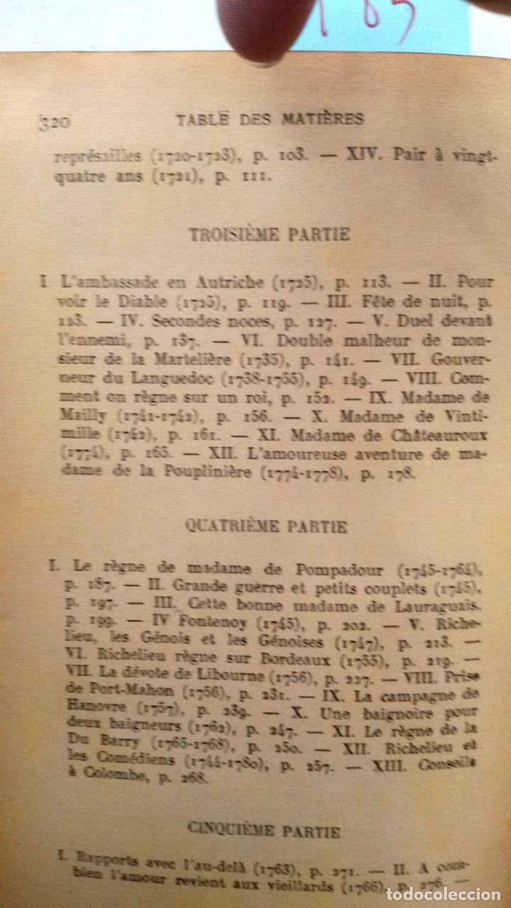 Libros antiguos: Les conquetes d'amour et de gloire du meréchal, duc de RICHELIEU .. Por Paul Reboux 1929 - Foto 6 - 19046767