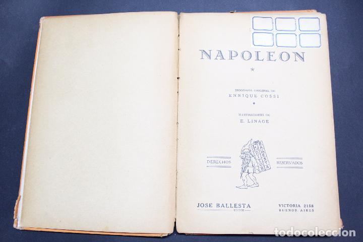 Libros antiguos: L- 3980. NAPOLEON, ENRIQUE COSSI. GIGANTES DE LA HISTORIA. ED. JOSE BALLESTA. - Foto 2 - 61980708