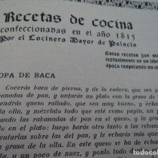 Libros antiguos: REVISTAS RECETAS DE COCINA MENAGE ENCUADERNADAS NO ORDEN CORRELATIVO 1932/34. Lote 62066160