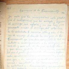 Libros antiguos: LIBRO RELIGIOSO CAMINO DE LA FUENSANTA MANUSCRITO ORIGINAL INEDITO CARLOS HERRERO 1920 MURCIA. Lote 62270096