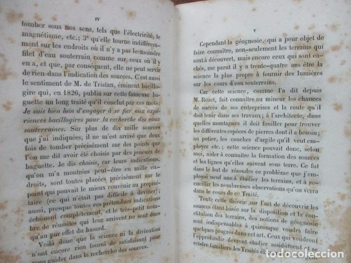 Libros antiguos: L'ART DE DÉCOUVRIR LES SOURCES. L'ABBÉ PARAMELLE. 1856. - Foto 3 - 62280776