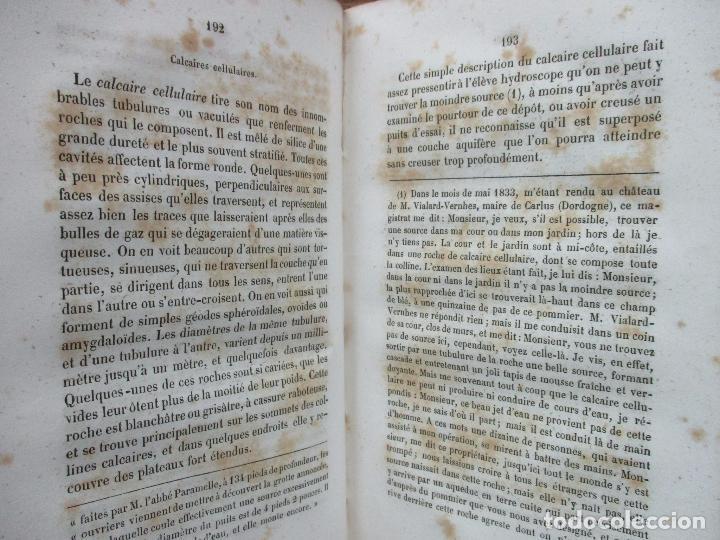 Libros antiguos: L'ART DE DÉCOUVRIR LES SOURCES. L'ABBÉ PARAMELLE. 1856. - Foto 7 - 62280776