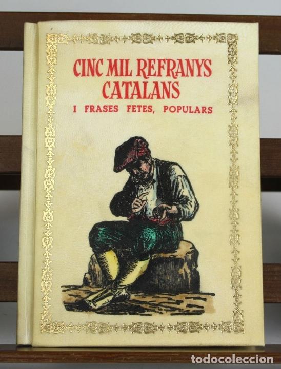 Libros antiguos: 8050 - CINC MIL REFRANYS CATALANS. EJEMPLAR Nº 93. VV. AA. EDIT. MILLÁ. 1965. - Foto 2 - 62528732