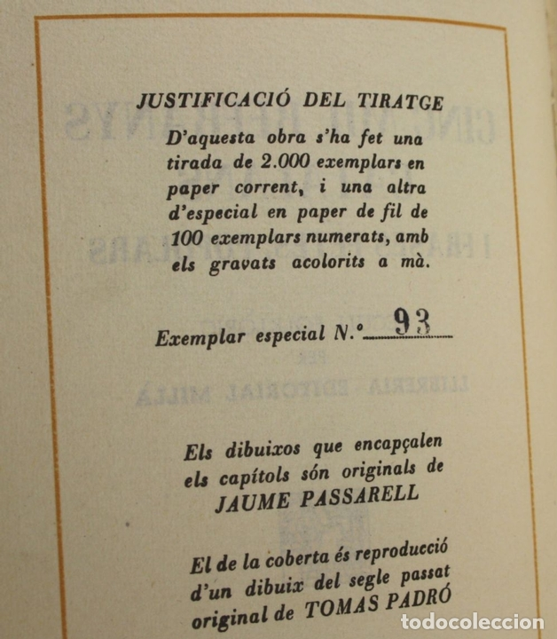 Libros antiguos: 8050 - CINC MIL REFRANYS CATALANS. EJEMPLAR Nº 93. VV. AA. EDIT. MILLÁ. 1965. - Foto 5 - 62528732
