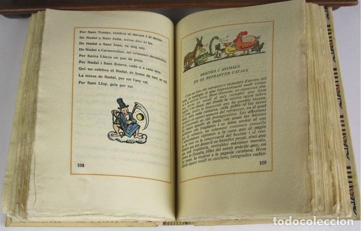 Libros antiguos: 8050 - CINC MIL REFRANYS CATALANS. EJEMPLAR Nº 93. VV. AA. EDIT. MILLÁ. 1965. - Foto 6 - 62528732