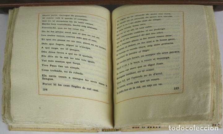 Libros antiguos: 8050 - CINC MIL REFRANYS CATALANS. EJEMPLAR Nº 93. VV. AA. EDIT. MILLÁ. 1965. - Foto 9 - 62528732