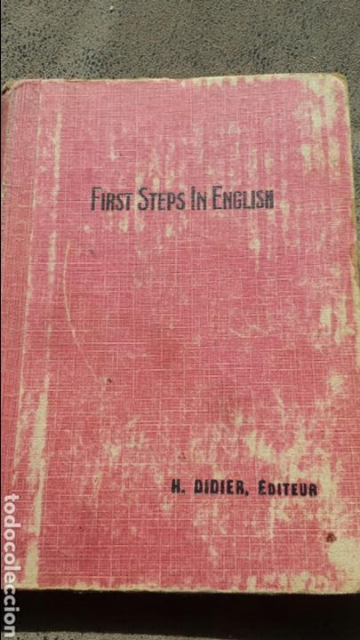 FIRST STEPS IN ENGLISH- H.DIDIER,EDITEUR- PARIS 1922. LÁMINAS - STORIES, POEMS AND SONGS (Libros Antiguos, Raros y Curiosos - Otros Idiomas)
