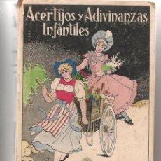 Libros antiguos: ACERTIJOS Y ADIVINANZAS INFANTILES. E. SANCHEZ RUEDA. LIBRERIA MOLINA 193??. (P/D6). Lote 62882132