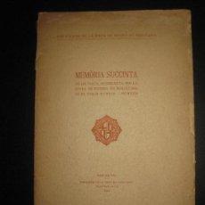 Libros antiguos: MEMORIA SUCCINTA DE LA JUNTA DE MUSEUS DE BARCELONA 1919-1922.. Lote 63184120