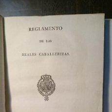 Libros antiguos: REGLAMENTO DE LAS REALES CABALLERIZAS DE ORDEN SUPERIOR 1817. Lote 63185424