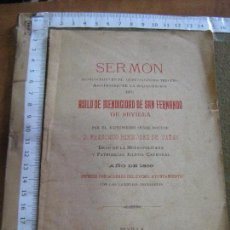 Libros antiguos: SERMON ASILO DE MENDICIDAD DE SAN FERNANDO DE SEVILLA - FRANCISCO BERMUDEZ DE CAÑAS - SEVILLA 1899. Lote 63281740