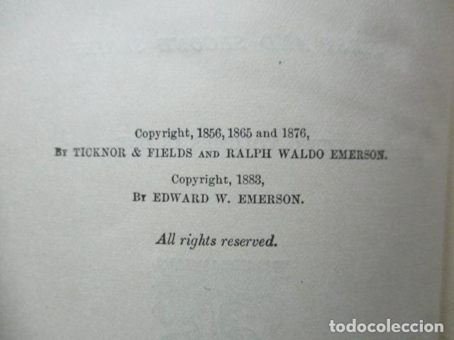 Libros antiguos: ESSAYS / RALPH WALDO EMERSON, alrededor 1906, Two volumes in one. Ver fotos. - Foto 5 - 63453164