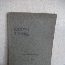 Libros antiguos: (URUGUAY) SOBRE EL ORIJEN DE LOS CHARRUA. Lote 63694879