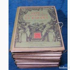 Libros antiguos: 10 CARPETAS DE LAMINAS DE ARTE Y DECORACIÓN EN ESPAÑA. ARQUITECTURA - ARTE DECORATIVO. 841 LAMINAS. Lote 63837579