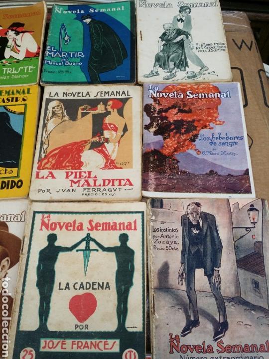 Libros antiguos: LA NOVELA SEMANAL 18 EJEMPLARES - Foto 4 - 64001498