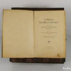 Libros antiguos: 4753- CERTAMEN CIENTIFICO LITERARIO. VV.AA. IMP. TOBELLA Y COSTA. 1902.. Lote 43747581