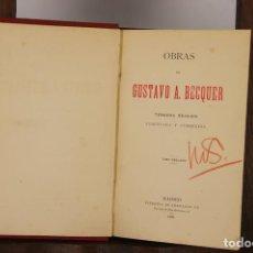 Libros antiguos: 4846- OBRAS DE GUSTAVO A. BECQUER. LIB. FERNANDO FE. 1881. TOMO 2.. Lote 43888656