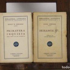 Libros antiguos: 5135-BIBLIOTECA LITERARIA. EDIT. CATALANA. COLECCION DE 9 TITULOS. 1924/1928.. Lote 45198942
