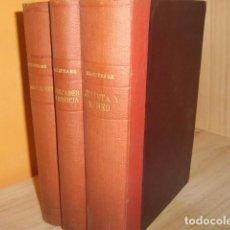 Libros antiguos: OBRAS DE WILLIAM SHAKSPEARE,1872-1877-3 TOMOS. Lote 64198119
