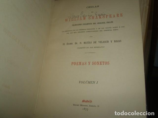 Libros antiguos: OBRAS DE WILLIAM SHAKSPEARE,1872-1877-3 TOMOS - Foto 5 - 64198119