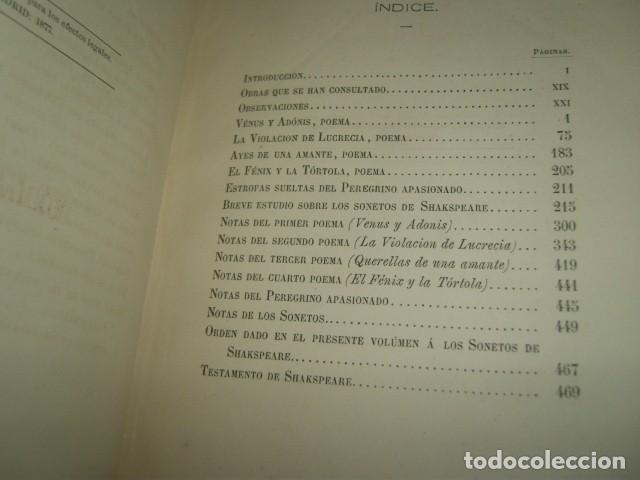 Libros antiguos: OBRAS DE WILLIAM SHAKSPEARE,1872-1877-3 TOMOS - Foto 6 - 64198119