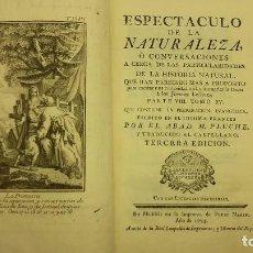 Libros antiguos: ESPECTACULO DE LA NATURALEZA ABAD M PLUCHE.TOMO XV.. Lote 64304939