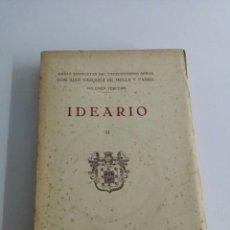 Libros antiguos: IDEARIO II JUAN VAZQUEZ DE MELLA Y FANJUL VOLUMEN TERCERO. Lote 64597694