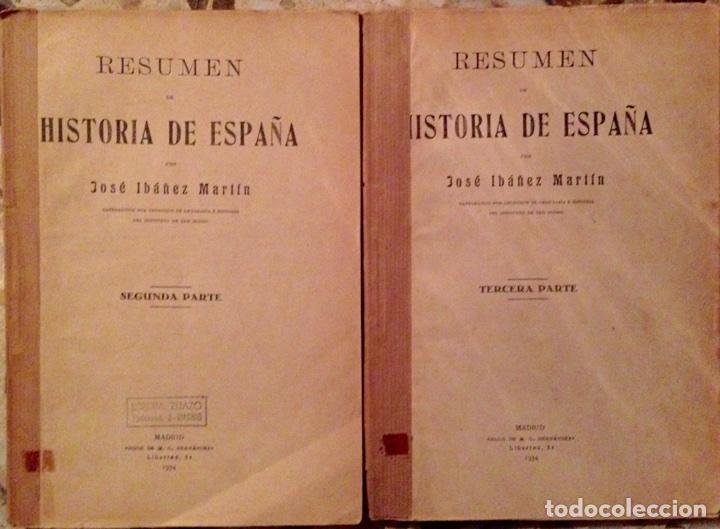 RESUMEN HISTORIA DE ESPAÑA JOSÉ IBÁÑEZ MARTIN 1934 (Libros Antiguos, Raros y Curiosos - Historia - Otros)