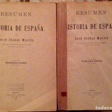 Libros antiguos: RESUMEN HISTORIA DE ESPAÑA JOSÉ IBÁÑEZ MARTIN 1934. Lote 64912158