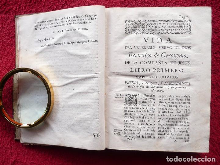 Libros antiguos: ADMIRABLE VIDA DEL VENERABLE PADRE FRANCISCO DE GERONYMO. ANTONIO DE FRIAS. 1758. JOAQUIN IBARRA. - Foto 11 - 64918699