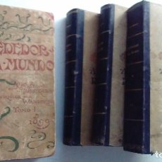 Libros antiguos: CUATRO TOMOS ENCUADERNADOS DE LA ANTIGUA REVISTA ALREDEDOR DEL MUNDO ( AÑOS 1899, 1901, 1904,1908). Lote 64929183