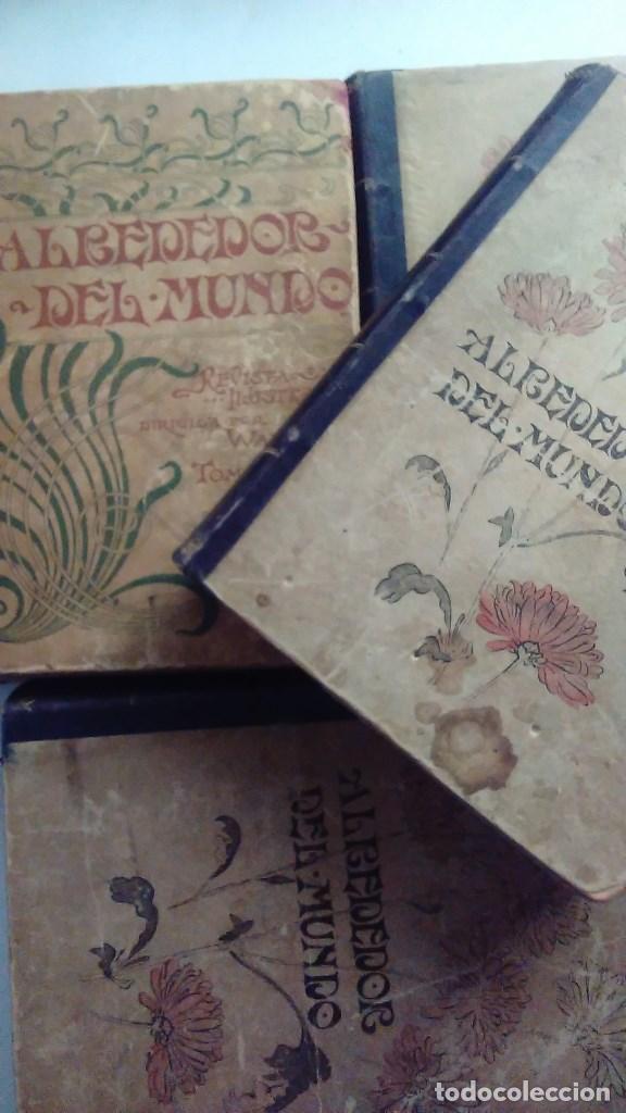 Libros antiguos: Cuatro tomos encuadernados de la antigua revista Alrededor del mundo ( años 1899, 1901, 1904,1908) - Foto 2 - 64929183