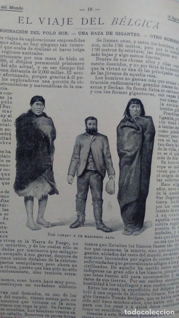 Libros antiguos: Cuatro tomos encuadernados de la antigua revista Alrededor del mundo ( años 1899, 1901, 1904,1908) - Foto 5 - 64929183