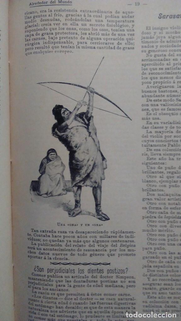 Libros antiguos: Cuatro tomos encuadernados de la antigua revista Alrededor del mundo ( años 1899, 1901, 1904,1908) - Foto 6 - 64929183