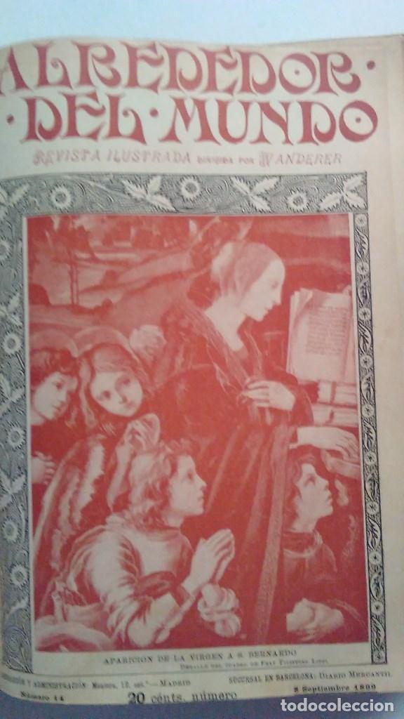 Libros antiguos: Cuatro tomos encuadernados de la antigua revista Alrededor del mundo ( años 1899, 1901, 1904,1908) - Foto 8 - 64929183