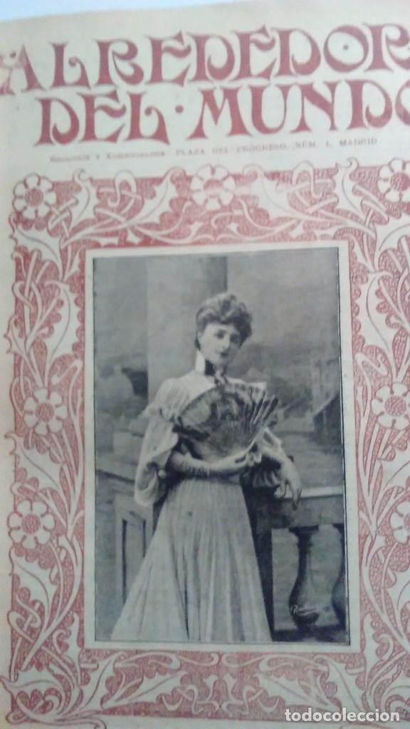 Libros antiguos: Cuatro tomos encuadernados de la antigua revista Alrededor del mundo ( años 1899, 1901, 1904,1908) - Foto 9 - 64929183