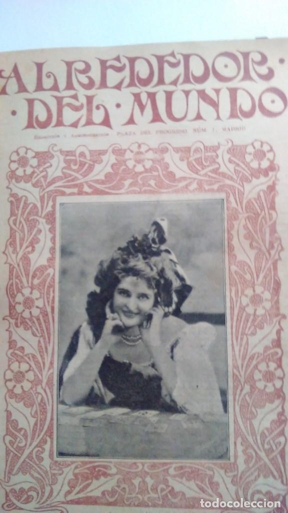 Libros antiguos: Cuatro tomos encuadernados de la antigua revista Alrededor del mundo ( años 1899, 1901, 1904,1908) - Foto 11 - 64929183