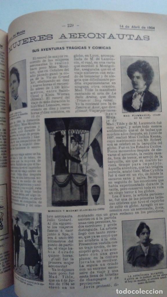 Libros antiguos: Cuatro tomos encuadernados de la antigua revista Alrededor del mundo ( años 1899, 1901, 1904,1908) - Foto 12 - 64929183