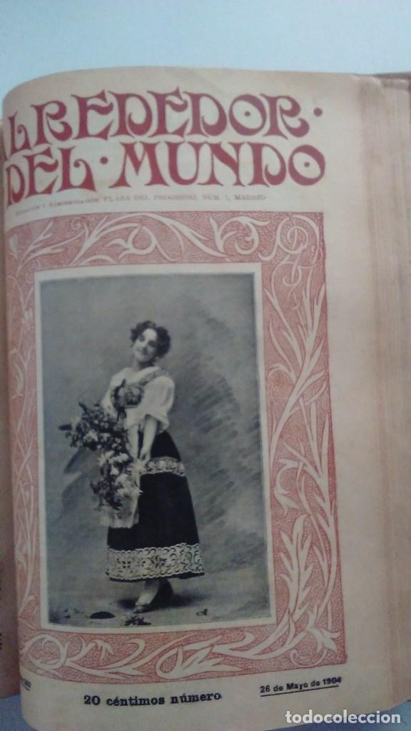 Libros antiguos: Cuatro tomos encuadernados de la antigua revista Alrededor del mundo ( años 1899, 1901, 1904,1908) - Foto 13 - 64929183