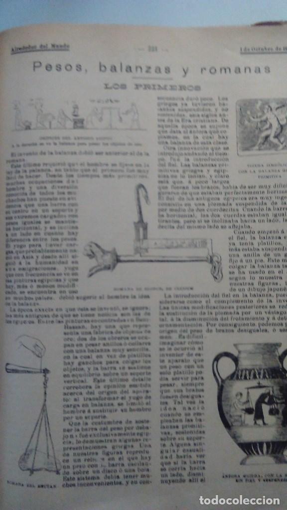 Libros antiguos: Cuatro tomos encuadernados de la antigua revista Alrededor del mundo ( años 1899, 1901, 1904,1908) - Foto 14 - 64929183