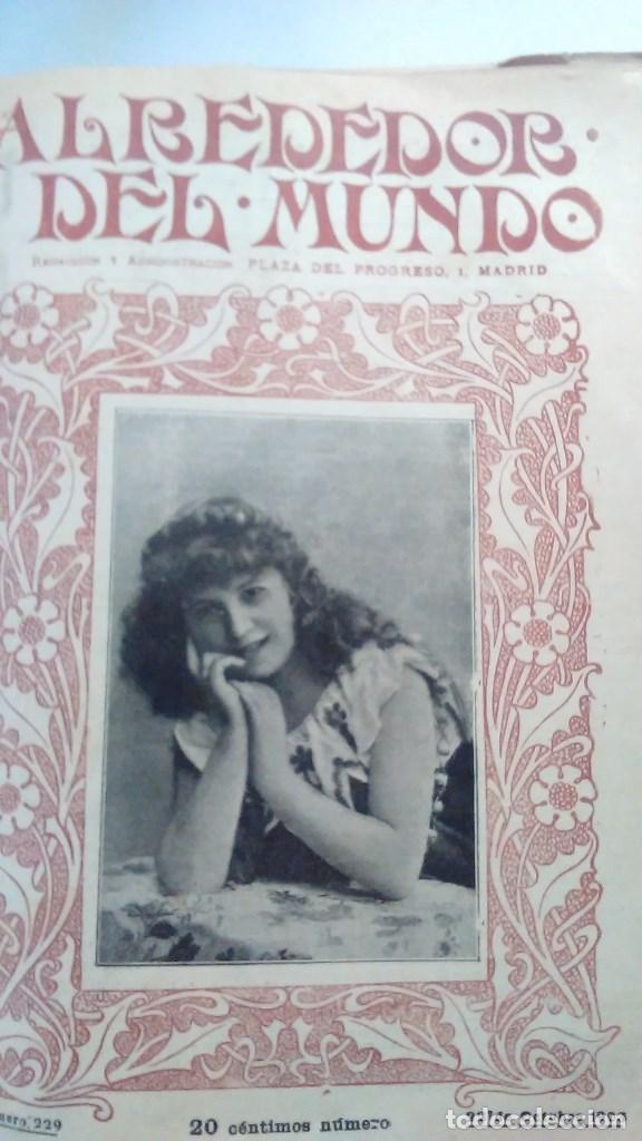 Libros antiguos: Cuatro tomos encuadernados de la antigua revista Alrededor del mundo ( años 1899, 1901, 1904,1908) - Foto 15 - 64929183